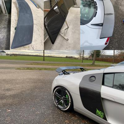 Coating Rearwing Audi R8 With Carbon 001